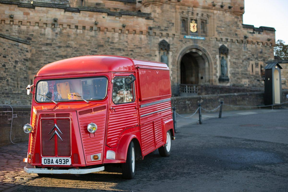 red Citroen vehicle