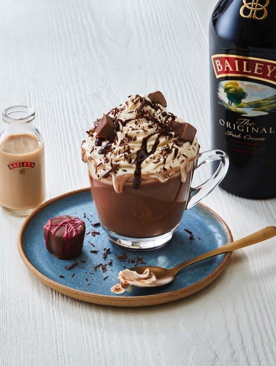 Kickstart Fall Day 1 Drink: Bailey's Hot Chocolate